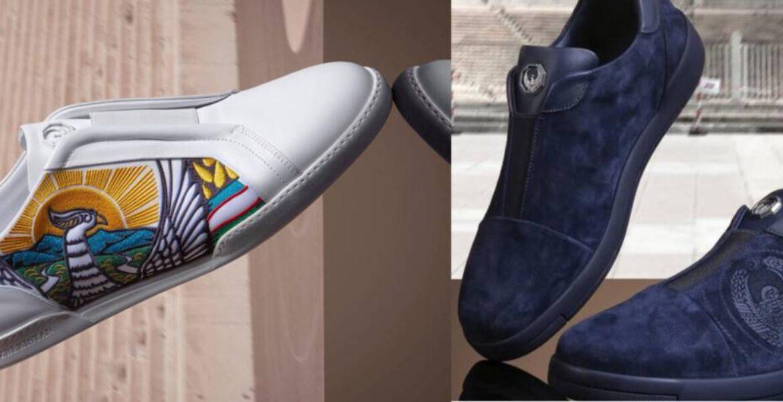 Итальянский дизайнер выпустил обувь с изображением герба Узбекистана. Это сочли неуважением к госсимволам