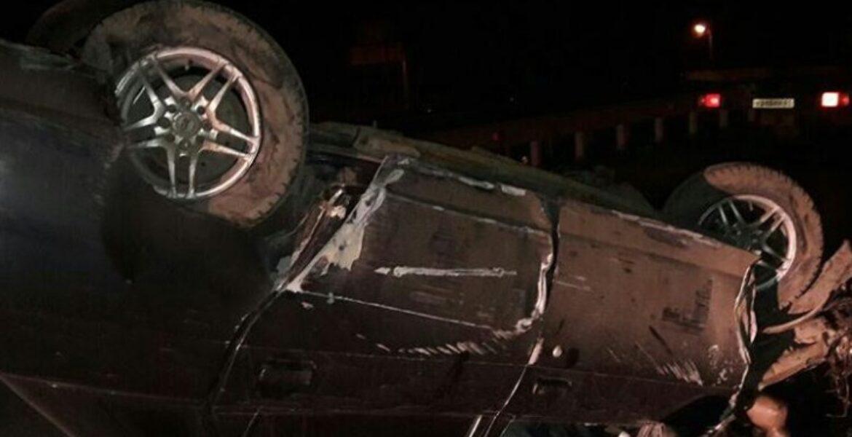 Машина перевернулась в результате ДТП в Нур-Султане (видео)