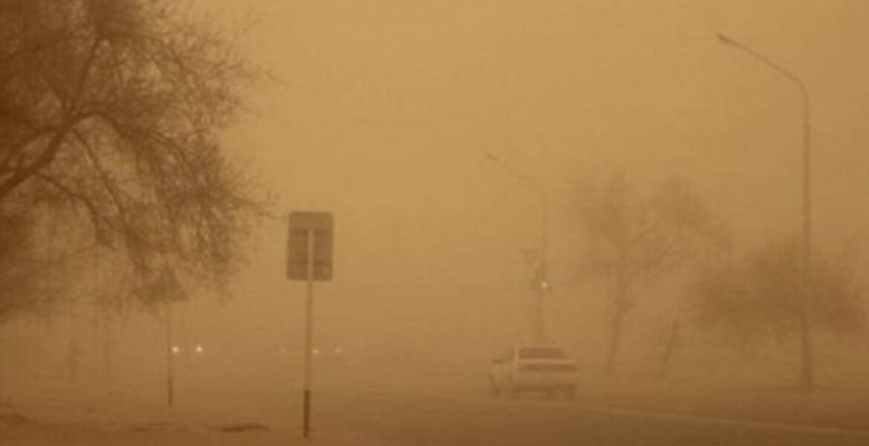 Пыльная буря накрыла один из районов Мангистау