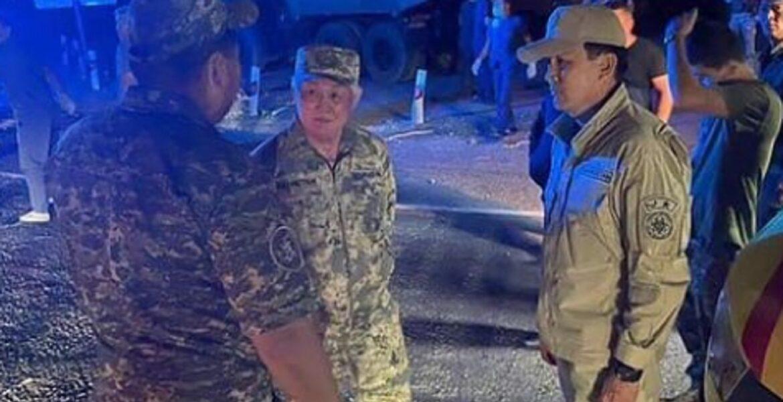 В Жамбылской области продолжаются поиски пропавшего военного после взрывов на складе боеприпасов