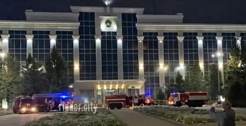 Пожар произошел в здании акимата в Усть-Каменогорске