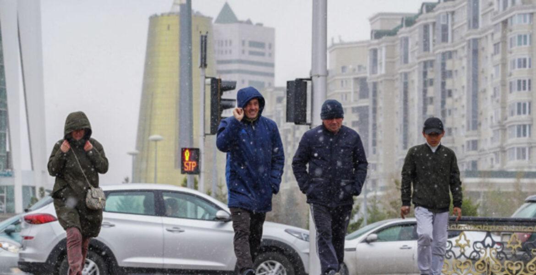Нур-Султан усыпало снегом